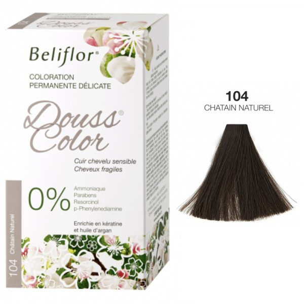 Coloration Délicate DOUSSCOLOR n° 104 Chatain Naturel Beliflor