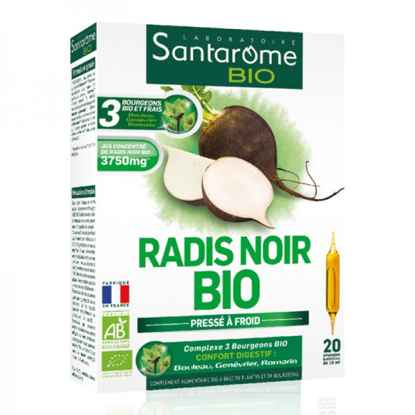 Radis noir en Ampoules Bio - Santarome Bio