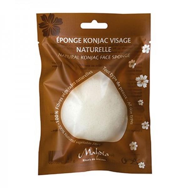 Eponge Konjac Naturelle Visage naturelle - Béliflor