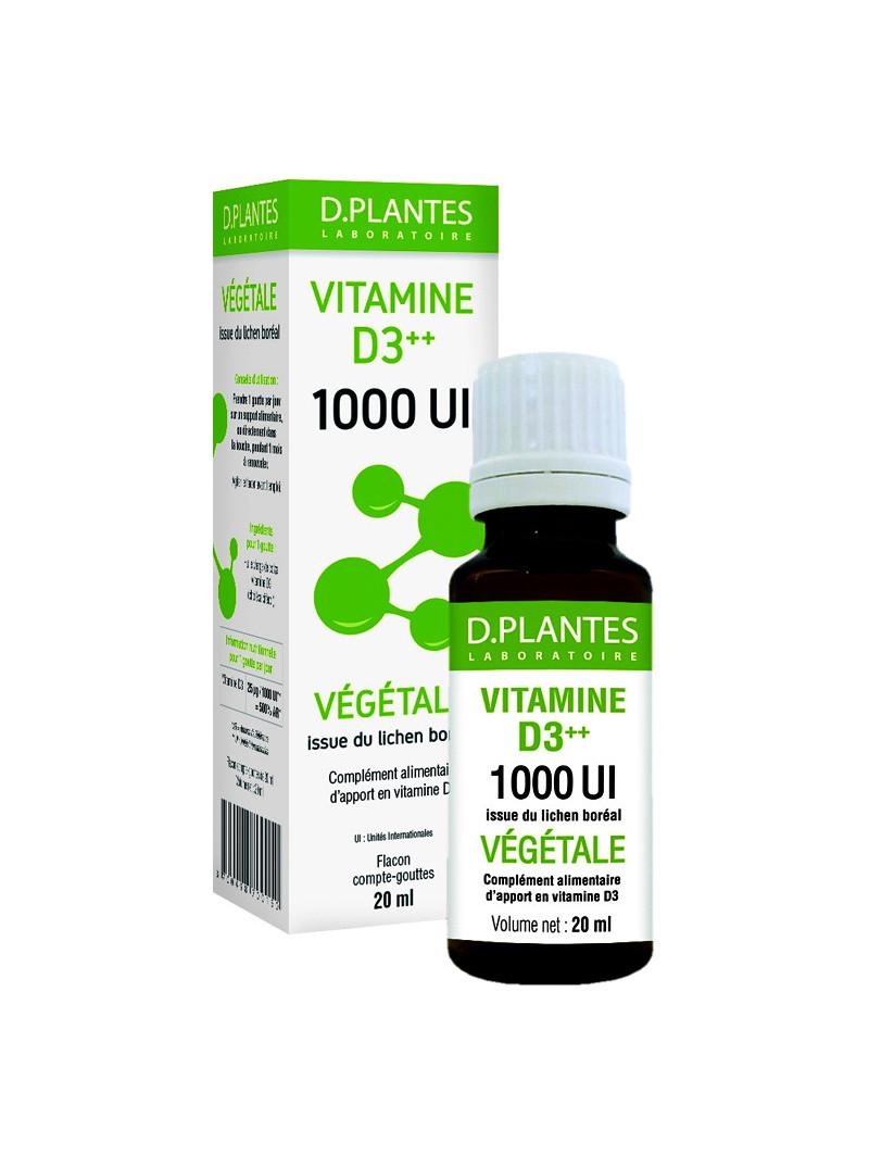 Vitamines D3++ - 1000UI D.PLANTES