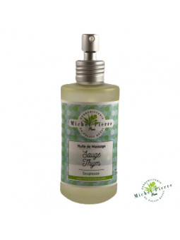 Sauge & Thym - Huile de massage herboristerie du palais royal